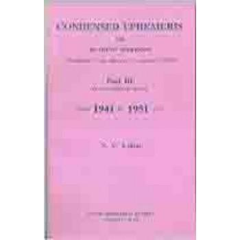 Lahiri Condensed Ephemeris From 1941-1951