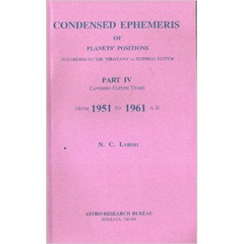 Lahiri Condensed Ephemeris From 1951-1961