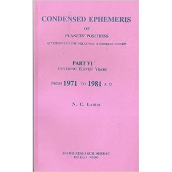 Lahiri Condensed Ephemeris From 1971-1981