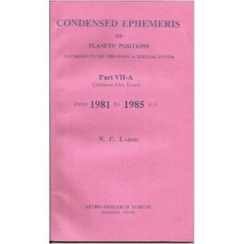 Lahiri Condensed Ephemeris From 1981-1985