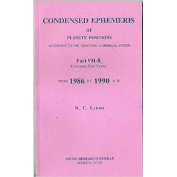 Lahiri Condensed Ephemeris From 1986-1990