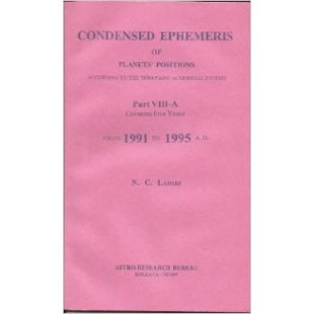 Lahiri Condensed Ephemeris From 1991-1995